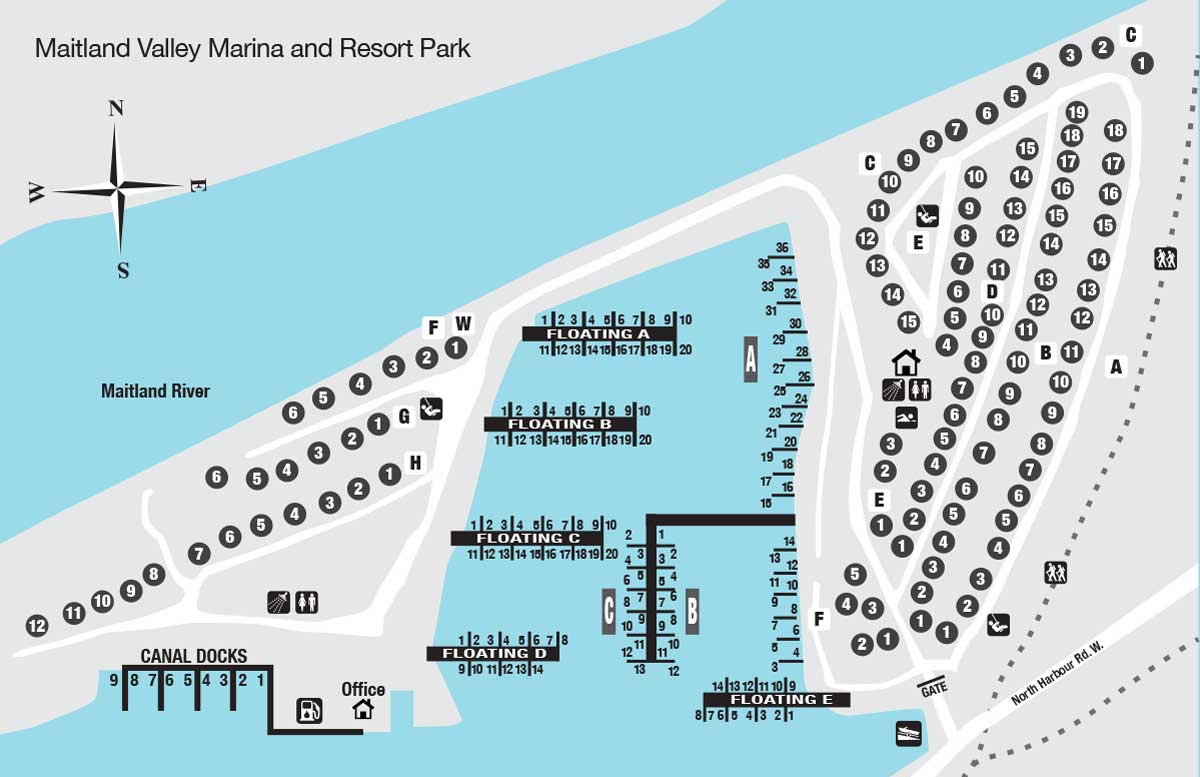 Maitland Marina Map